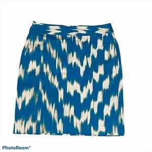 Banana Republic Teak Ikat Print Skirt Size 6